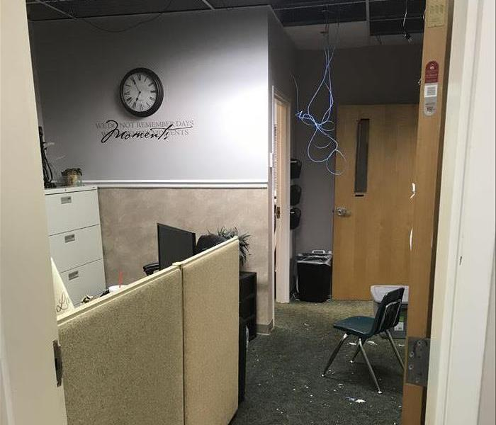 Office Damaged by Rain Water Before