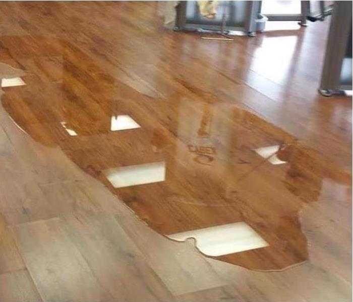 Commercial Water Damage – Chattanooga Gym Before