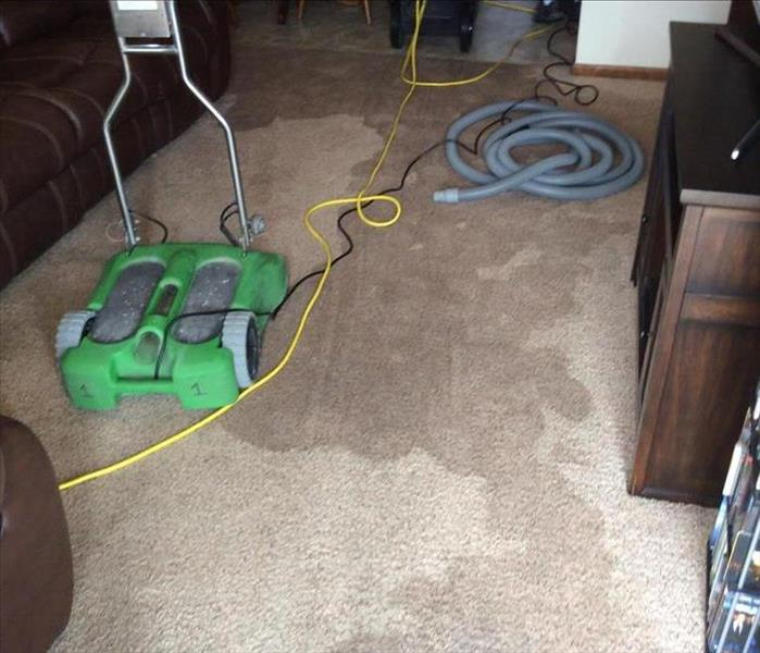 Wet Living Room from Supply Line Leak