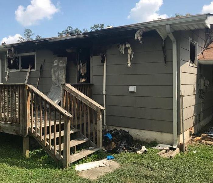 Heavily Fire Damaged Home